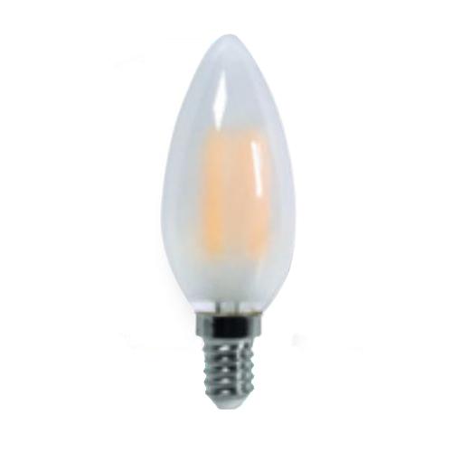 Lampada led filamento candela satinata attacco e14 valex 4w for Lampada led e14