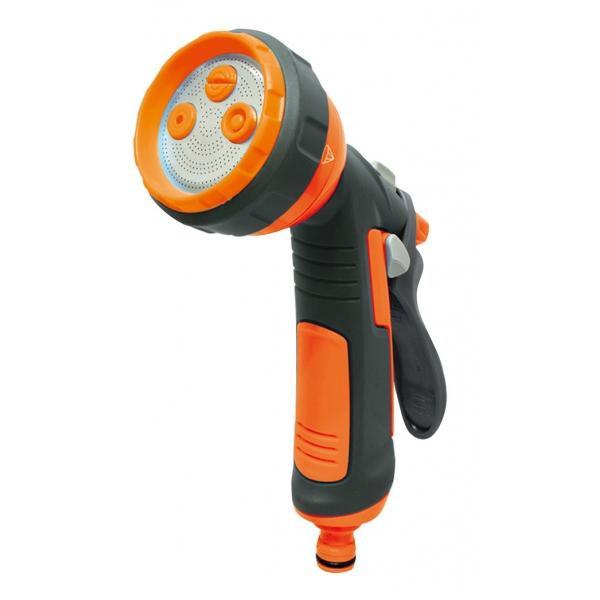 Pistola lancia per irrigazione a getto regolabile impugnatura in gomma giardino