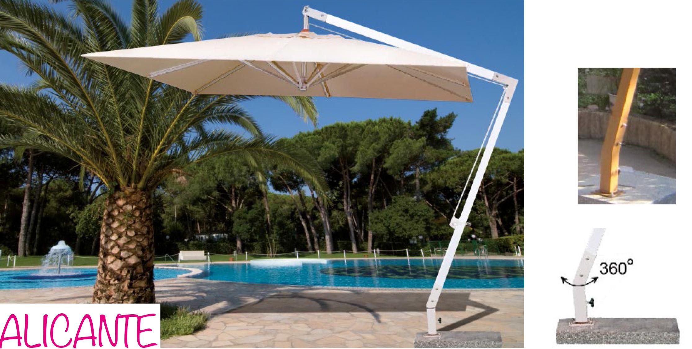 Ombrellone sbraccio alluminio alicante papillon - Ombrelloni da giardino offerte ...