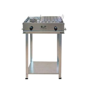 BARBECUE GAS INOX CAMPING COMPLETO DI KIT RUOTE BEP