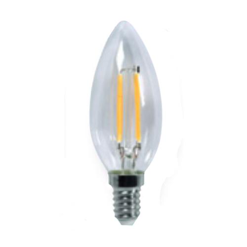 Lampada led filamento candela chiara attacco e14 valex 2w for Lampada led e14