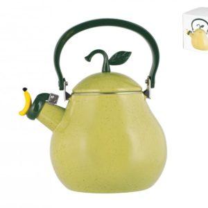 Bollitore Pera in acciaio inox smaltato verde 2,5 litri H&H
