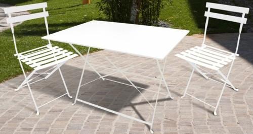 Tavolo da giardino plastica prince effetto rattan colore antracite