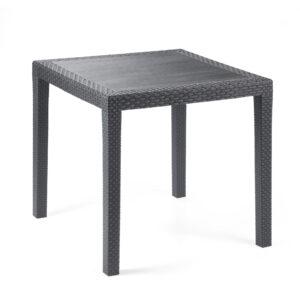 Tavolo da giardino plastica King effetto rattan