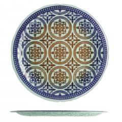 Piatto grande Damasco in vetro h&h