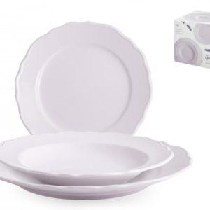 Servizio piatti 18 pezzi in ceramica lilla Giulia H&H