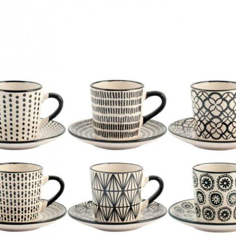 Set 6 tazzine caffè Vhera H&H3