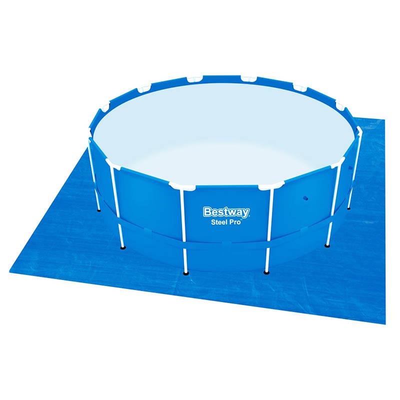 Telo base fondo piscina 488x488 cm bestway 58003 - Riparazione telo piscina ...