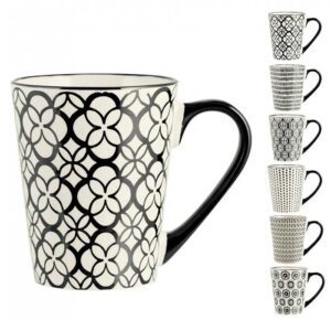 Tazza Mug Vhera Stoneware Decori Assortiti H&H 350 ml
