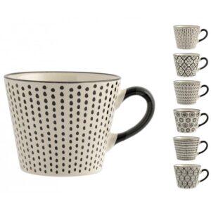 Tazza jumbo Vhera Stoneware Decori Assortiti H&H 340 ml