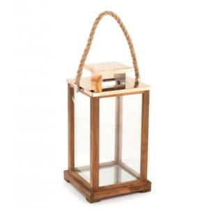 Lanterna in legno Sea H&H 21x21xh38 cm