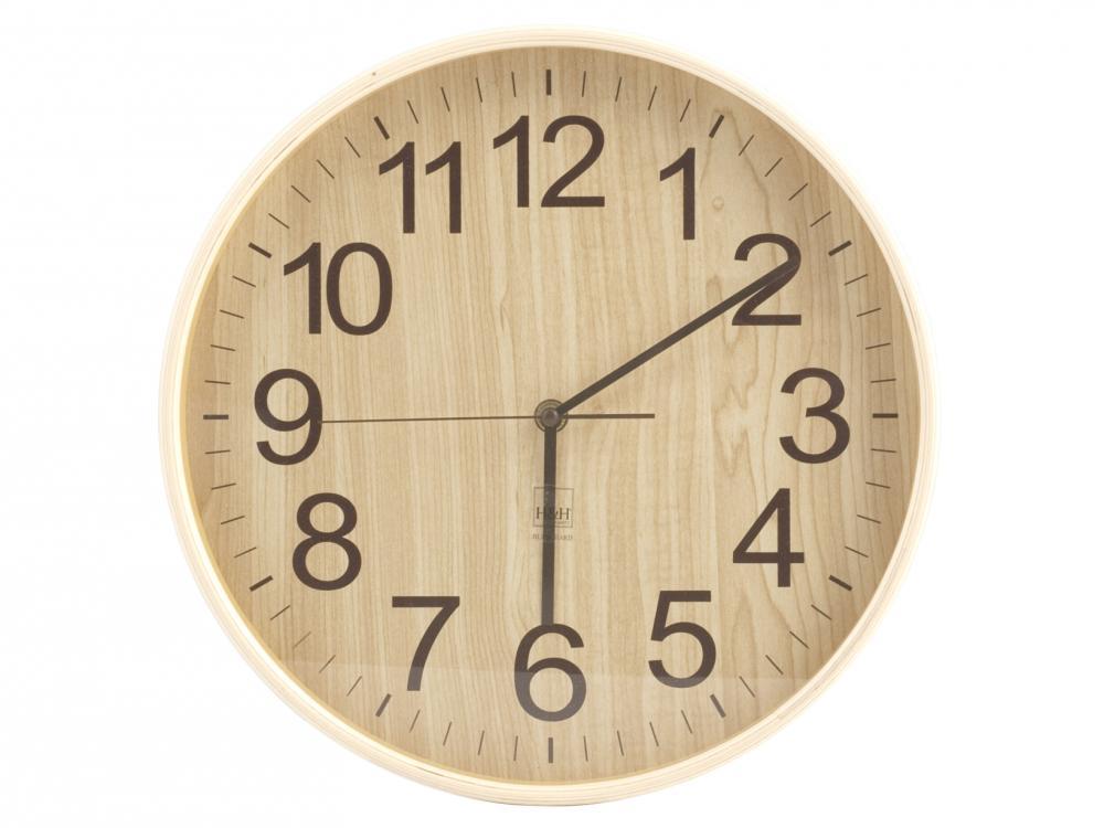pensieri su vendita online sfoglia le ultime collezioni Orologio da parete in legno chiaro H&H 32 CM