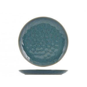 Piatto frutta Mykonos H&H stoneware blu 22 cm
