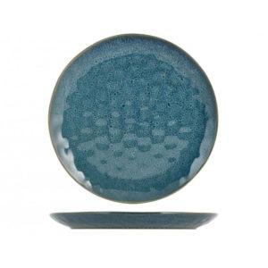 Piatto piano Mykonos H&H stoneware blu 28 cm