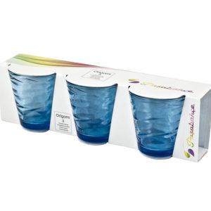 Set 3 Bicchieri Pasabahce Origami Blu 24,5 cl