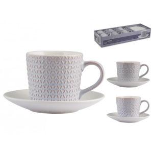 Set 6 Tazze Caffè Lilian in stoneware lilla 80 ml H&H