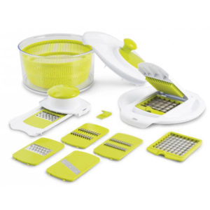 Set Green Salad Centrifuga multifunzionale con 15 accessori H&H