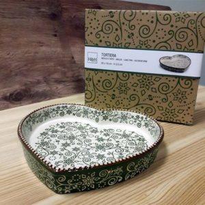 Tortiera Cuore in Stoneware Ellen Verde H&H 20x19 CM_1