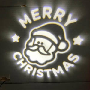 Proiettore Faccia BABBO MERRY CHRISTMAS 1x1W LED BIANCO