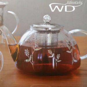 TEIERA vetro borosilicato filtro e coperchio acciaio WD366