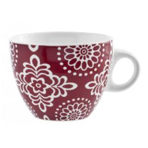 Tazza Tè Ellen new bone china colori assortiti 230 ml H&H rosso decoro bianco