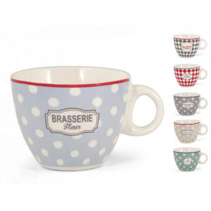 Tazza tè Brasserie decori assortiti new bone china 240 ml H&H