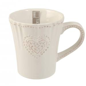 Tazza Mug Celine in ceramica stoneware H&H avorio 330 ml