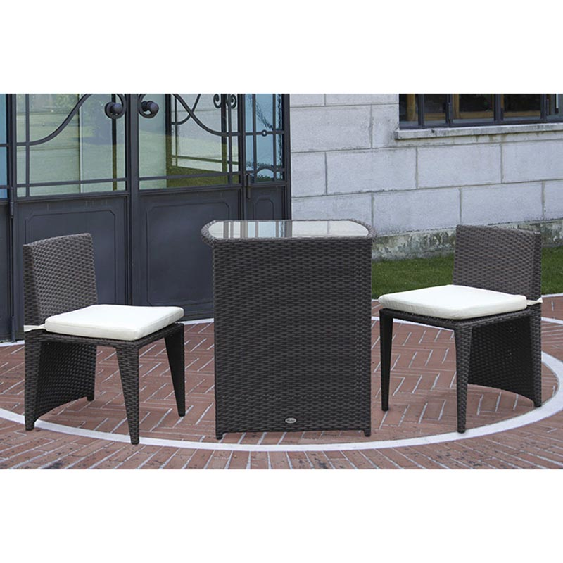 Salottino polyrattan tavolara papillon marrone for Salottini giardino offerte