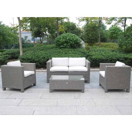 Set mobili da giardino maratea melange grigio papillon for Salottini da giardino offerte
