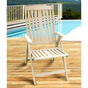 Sedia in legno con braccioli Caorle 59x69x105H cm