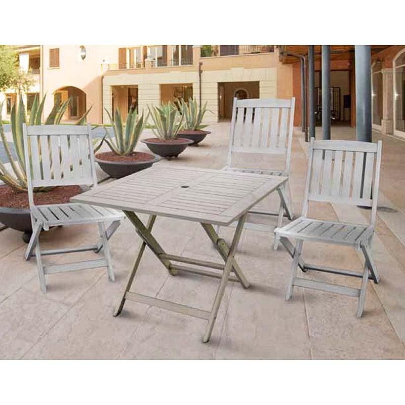 Tavolo lido legno quadrato 90x90x73h cm papillon - Tavolo quadrato legno ...