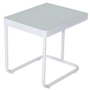 Tavolino Perla Acciaio Bianco 60x45x54H CM