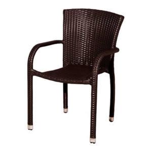 Sedia Impilabile con braccioli Sciacca 54x54x83H cm