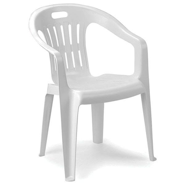 Sedia polipropilene piona impilabile 56x55x78 cm bianca - Sedia polipropilene impilabile ...
