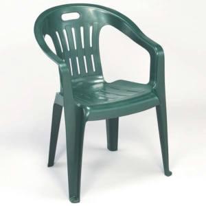Sedia polipropilene PIONA impilabile 56x55x78 cm verde