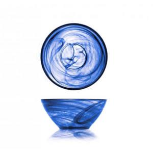 Coppetta Alabastro in pasta di vetro ø 14 cm blu cobalto H&H