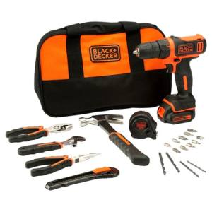 SET TRAPANO AVVITATORE 10.8V LITIO BDCDD12HTSA-QW BLACK&DECKER