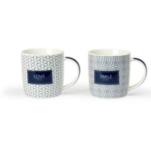 TAZZA MUG FEELING BLU DECORO ASSORTITO 40 CC