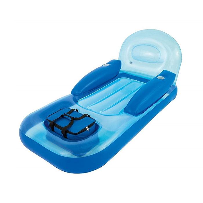 Poltrona materassino gonfiabile piscina con borsa frigo for Materassini piscina