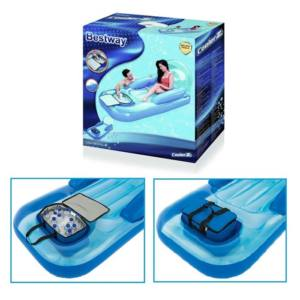 Poltrona materassino gonfiabile piscina con borsa frigo BESTWAY 43130