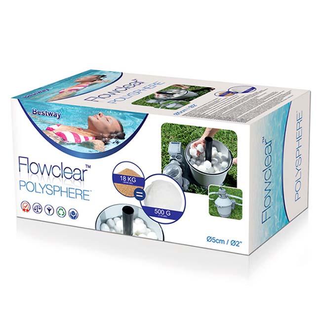 Sfere filtraggio flowclear per filtri sabbia 500 gr 30014 bestway - Filtri per piscine fuori terra ...