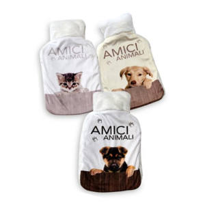 BORSA ACQUA CALDA HOTTY SOFT 2 LITRI DECORO CANE GATTO