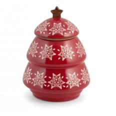 Barattolo Multiuso Ceramica Alberello H&H Grace Rosso 15x19 cm