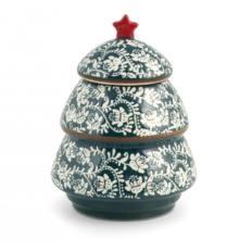 Barattolo Multiuso Ceramica Alberello H&H Grace Verde 15x19 cm