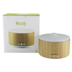 Diffusore ad ultrasuoni in legno naturale e vetro satinato Woody Gisa