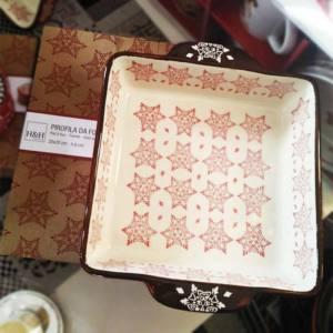 Pirofila Ceramica Forma Quadrata H&H Grace Rossa 20x20 cm