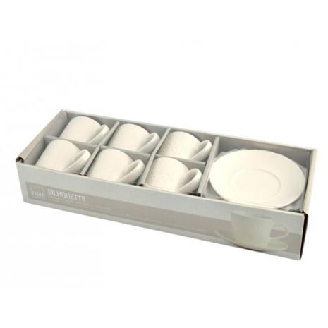 Servizio 6 tazze da tè con Piattino H&H Silhouette 200 ml