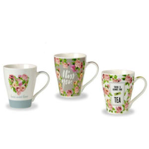 TAZZA MUG DECORO BOTANICA 400 CC NEW BONE CHINA