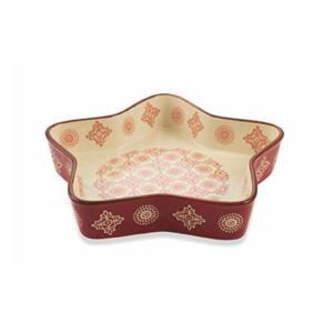 Tortiera Ceramica Forma Stella H&H Grace Rossa 20x20 cm