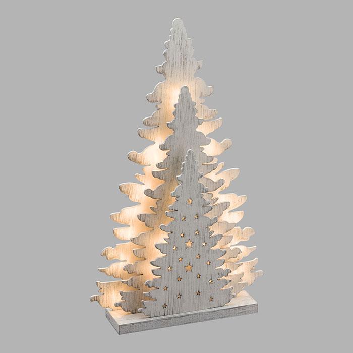 Albero Natale Legno.Albero Natale Legno Vintage Bianco 20 Led Classic A Batteria H35x21x5cm